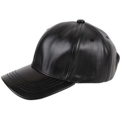 Armitage Avenue Faux Leather Baseball Hat (31 CAD) ❤ liked on Polyvore featuring accessories, hats, black, ball caps, faux leather baseball cap, baseball hats, baseball cap and ball cap hats