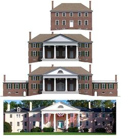 "Iterations of Montpelier. From ""President by Day, Architect by Night,"" Thomas Kligerman."