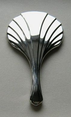 Vintage Hand Mirror Silver Plate Art Deco Design Purse Size | VintageGlassGarden - Bath & Beauty on ArtFire