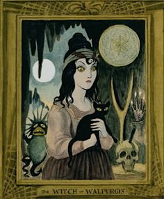 shehaveoftenlaughedatprayer: The Witch of Walupurgis, Haunted Mansion Note her stang, the hand of glory, and the pentacle for conjuring infernal spirits, all from Émile Grillot de Givry's Le musée des. Disney Love, Disney Art, Haunted Mansion, Spooky Halloween, Halloween Party, Disney Inspired, Decoration, Old Photos, Creepy