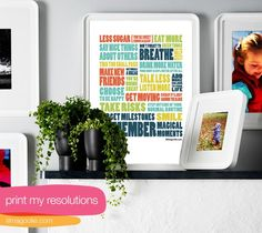 Frame this New Year's Resolution free printable from Colour Me There.