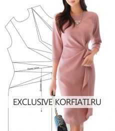 Dress pattern with asymmetric pleats by A. Korfiati - Patterns of women& clothing from the Anastasia Korfiati Sewing School The Effective Pictures - Sewing Clothes, Diy Clothes, Clothes For Women, Dress Sewing Patterns, Clothing Patterns, Diy Kleidung, Fashion Sewing, Mode Outfits, Pattern Fashion