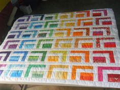 Love the colors in this quilt.  This is one I would like to make