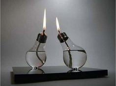 DIY Light Bulb Oil Lamp  ...............Follow DIY Fun Ideas at www.facebook.com/... for tons more great projects!