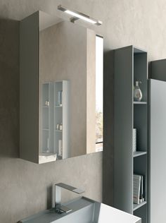 Bathroom storage ideas from LASA Idea, Italy. Bathroom Medicine Cabinet, Storage, Lighted Bathroom Mirror, Cabinet, Furniture, Bathroom Wall Cabinets, Home Decor, Bathroom Storage, Bathroom