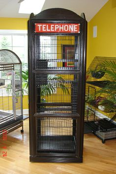 telephone booth Ferret Cage Ideas | ferret cage 001