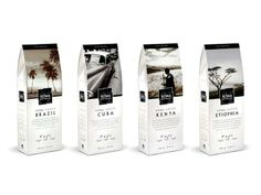Packaging of the World: Creative Package Design Archive and Gallery: Kowa Coffee. Cool illustrations on the #packaging matching the #coffee inside PD