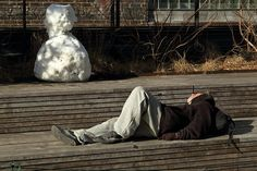 Winter Nap (High Line/NYC)   Ched   Flickr High Line, Outdoor Furniture, Outdoor Decor, Nyc, Explore, History, Winter, Photos, Garden Furniture Outlet