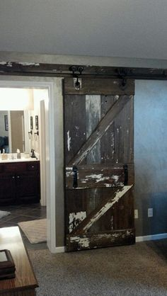 Beautiful Barn Door We Built And Installed Last Week It Hangs On 100 Year Old Rollers Track