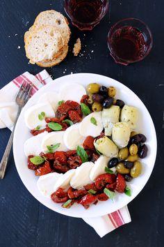 Roasted Tomato Caprese Antipasto image