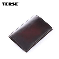 TERSE_Bespoke Wallet Handmade Cow Leather Men Purse Simple Style Italian Design Wallet Durable Solid Wallet Hand-patina 3 Colors