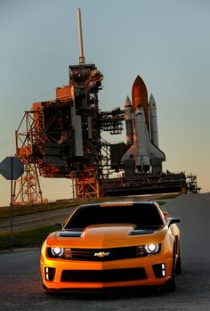 Chevy Camaro and the Space Shuttle can't wate to get  my Camaro back have fun!!!!!!!! :)