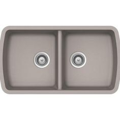 Buy Here: http://thd.co/1RydhLg SCHOCK SOLIDO SOLN200U042 Undermount Composite 33.75 in. 0-Hole 50/50 Double Bowl Kitchen Sink in Concrete #kitchensink #kitchensinks #kitchen #sinks #schock #granitesink