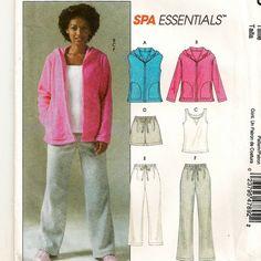 Spa Wear Pattern: Vest, Jacket, Top, Shorts, & Pants by SoSewSome, $3.25