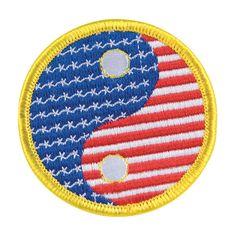Yin Yang USA Circle Patch cc08122YUS