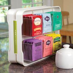YouCopia TeaStand 100+ Tea Bag Organizer, White.