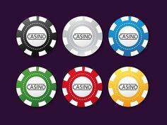 Poker Chips vector free