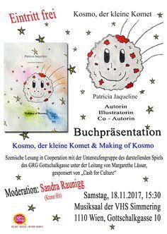 Patricia Jaqueline - P.J: Kosmo, der kleine Komet - Buchpräsentation - Patri. Illustrator, Blog, Fictional Characters, Author, Bullying, Children's Books, Illustrators, Blogging