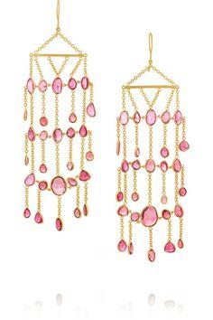 Pippa Small   18-karat gold tourmaline earrings   NET-A-PORTER.COM