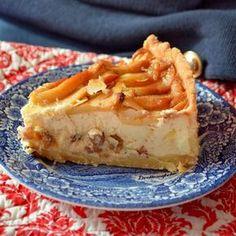 Poctivý tvarohový koláč s medom a jablkami
