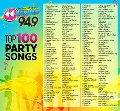 Rewind 94.9 Top 100 Party Songs