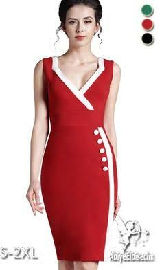 Nice-Forever Summer Elegant Women Round Neck Zipper Wear to Work Formal dress Bodycon Sheath Casual Wiggle Button Dresses 682 Cheap Dresses, Cute Dresses, Beautiful Dresses, Casual Dresses, Formal Dresses, Casual Cocktail Dress, Dress Skirt, Bodycon Dress, Different Dresses