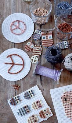 DIY Hama Beads! Make owls and peace signs to decorate in autumn or hang on the tree at Christmas!
