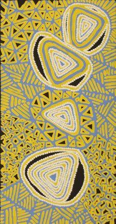 Ngapa Jukurrpa (Water Dreaming) - Mikanji by Juliette Nampijinpa Brown Aboriginal Painting, Aboriginal Artists, Dot Painting, Encaustic Painting, Aboriginal Dreamtime, Indigenous Australian Art, Indigenous Art, Australian Aboriginals, Aboriginal Culture