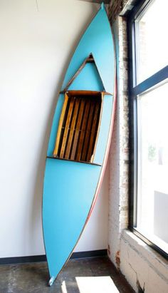 Turquoise Teak Kayak by Michea    http://pinterest.com/pin/19844054578322217/#lSparksDesign on Etsy, $4000.00