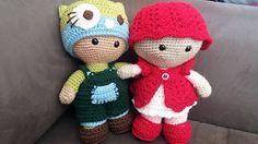 2000 Free Amigurumi Patterns: Weebee Big Head Mix and Match Baby Doll