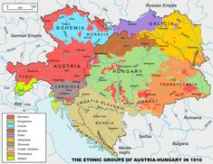 Ethnic groups of Austria-Hungary in 1910