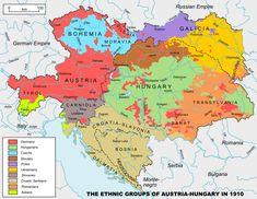 Ethnic groups of Austria-Hungary in 1910