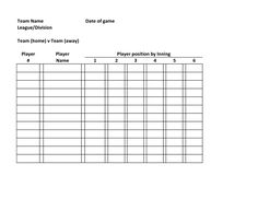 baseball lineup defensive baseball roster template team name date of game league division team