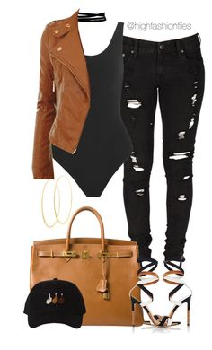 """Hip"" by highfashionfiles ❤ liked on Polyvore featuring Gianvito Rossi, Levi's, Hermès, Lamoda, Yummie by Heather Thomson and Lana"