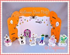 Halloween Dance Party Playtime Tableau Set  PDF by Crafterina