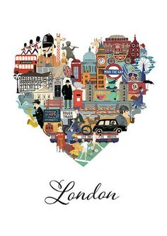 Love London is an intricately illustrated interpretation of all that makes London such a loveable and memorable city.