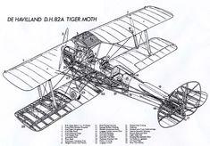 """De Havilland D.H 82A """"Tiger Moth"""" cutaway"""