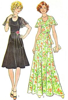 1970s Dress Pattern Simplicity 7382 Fit and Flare by paneenjerez, $12.00