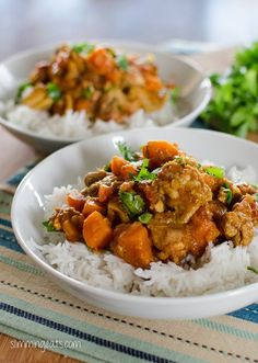Slimming Eats Chicken, Sweet Potato and Lentil Curry - gluten free, dairy free, Slimming World and Weight Watchers friendly Slow Cooker Recipes, Cooking Recipes, Healthy Recipes, Cheap Recipes, Batch Cooking, Healthy Snacks, Hacks Cocina, Sweet Potato Lentil Curry, Chicken Sweet Potato Curry