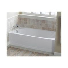 Sterling 71041112-0 Performa ADA AFD Bath Tub Only w/Above Floor Drain Left Hand 60 x 30 w/17-1/4