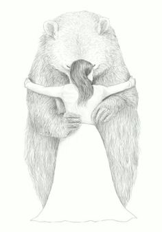 Image result for black and white drawings kermode bear