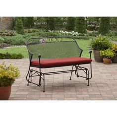 Better Homes and Gardens Clayton Court Outdoor Glider, Red Image 1 of 5