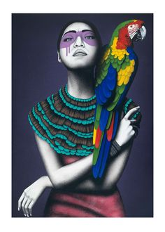'Alabaster' is now available as a 50x70cm girl print through Upfest: http://www.upfest.co.uk/artist/fin-dac Price £125 + p&p
