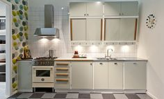50s Style Kitchens, Cool Kitchens, Next At Home, Kitchen Styling, New Kitchen, Kitchen Remodel, Sweet Home, Kitchen Cabinets, Living Room