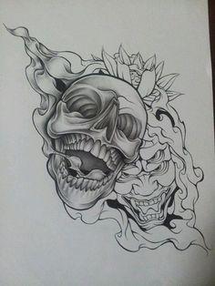 WiP Skull Demon Design 2 by MagnaSicParvis on DeviantArt