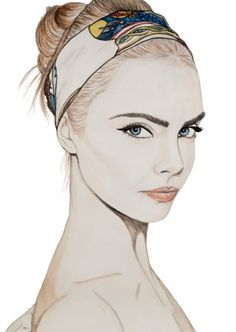 fashion drawing face - Google Search