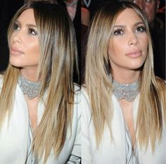 Kim Kardashian hair and makeup