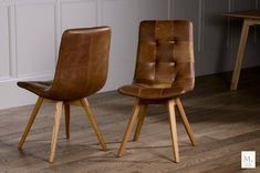 Leather Dining Chair at Curiosity Interiors. Buy Italian leather dining chair and bench. Vintage leather dining chairs with finance Oak Dining Chairs, Leather Dining Chairs, Dining Room Furniture, Leather Sofa, Brown Leather, Modern Furniture, Affordable Furniture, Dining Bench, Kitchen Chairs