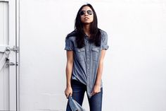Perfect chambray shirt, come to me! Now!