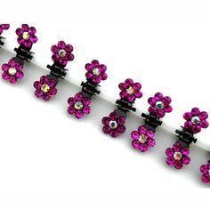 Wedding Hair Clips, Bridal Hair Pins, Flower Hair Clips, Flowers In Hair, Crystal Flower, Crystal Rhinestone, Pearl Headpiece, Claw Clip, Hair Claw